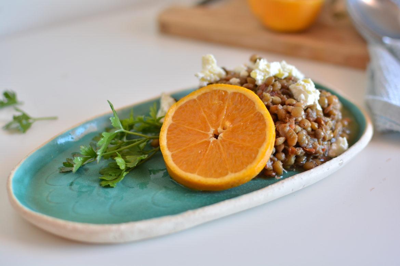 Lentils with orange